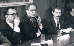 Giangiacomo Feltrinelli, Max Frisch ed Enrico Filippini